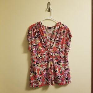 Pink and Red Floral Top by GEORGE